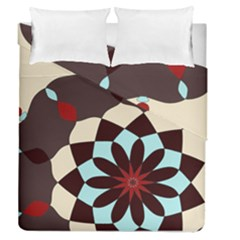 Red and Black Flower Pattern Duvet Cover Double Side (Queen Size) by theunrulyartist