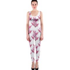 Colorful Cute Floral Design Pattern Onepiece Catsuit by dflcprintsclothing