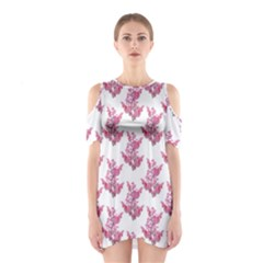 Colorful Cute Floral Design Pattern Shoulder Cutout One Piece by dflcprintsclothing