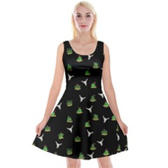 Cactus Pattern Reversible Velvet Sleeveless Dress by Valentinaart