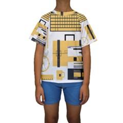 Web Design Mockup Web Developer Kids  Short Sleeve Swimwear by Nexatart
