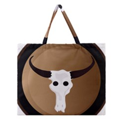 Logo The Cow Animals Zipper Large Tote Bag by Nexatart