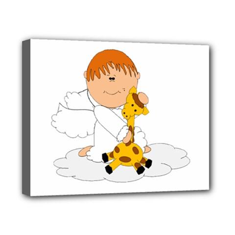 Pet Giraffe Angel Cute Boy Canvas 10  X 8  by Nexatart