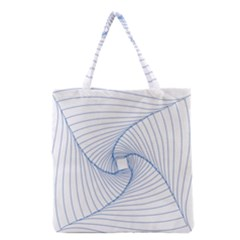 Spirograph Pattern Drawing Design Grocery Tote Bag by Nexatart
