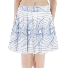 Spirograph Pattern Drawing Design Pleated Mini Skirt by Nexatart