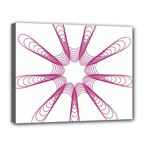 Spirograph Pattern Circle Design Canvas 14  X 11  by Nexatart