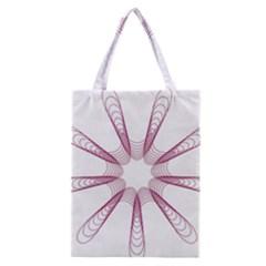 Spirograph Pattern Circle Design Classic Tote Bag by Nexatart