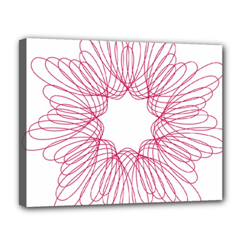 Spirograph Pattern Drawing Design Canvas 14  X 11  by Nexatart
