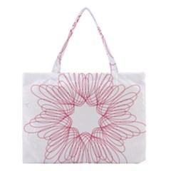 Spirograph Pattern Drawing Design Medium Tote Bag by Nexatart