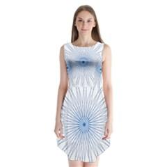 Spirograph Pattern Circle Design Sleeveless Chiffon Dress   by Nexatart