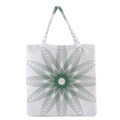 Spirograph Pattern Circle Design Grocery Tote Bag by Nexatart