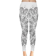 Art Coloring Flower Page Book Leggings  by Nexatart