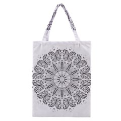 Art Coloring Flower Page Book Classic Tote Bag by Nexatart