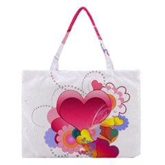Heart Red Love Valentine S Day Medium Tote Bag by Nexatart