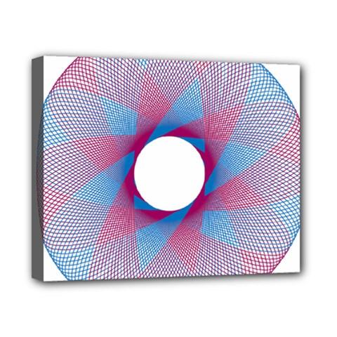 Spirograph Pattern Drawing Design Canvas 10  X 8  by Nexatart