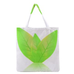 Leaves Green Nature Reflection Grocery Tote Bag by Nexatart