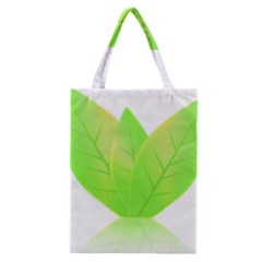 Leaves Green Nature Reflection Classic Tote Bag by Nexatart