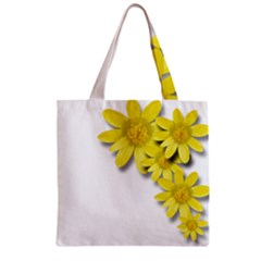 Flowers Spring Yellow Spring Onion Zipper Grocery Tote Bag by Nexatart