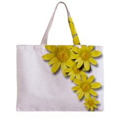 Flowers Spring Yellow Spring Onion Medium Zipper Tote Bag by Nexatart