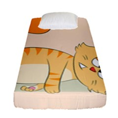 Even Cat Hates Monday Fitted Sheet (single Size) by Catifornia