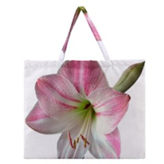 Flower Blossom Bloom Amaryllis Zipper Large Tote Bag by Nexatart