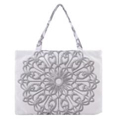 Scrapbook Side Lace Tag Element Medium Zipper Tote Bag by Nexatart