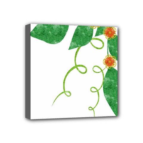 Scrapbook Green Nature Grunge Mini Canvas 4  X 4  by Nexatart