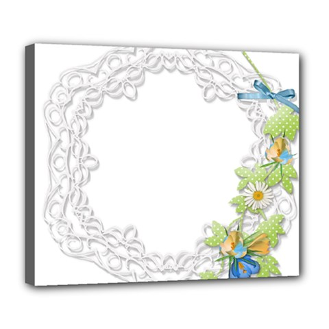 Scrapbook Element Lace Embroidery Deluxe Canvas 24  X 20   by Nexatart