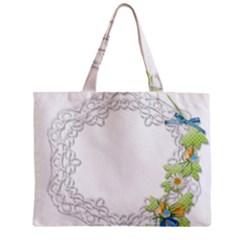 Scrapbook Element Lace Embroidery Zipper Mini Tote Bag by Nexatart