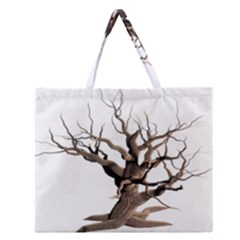 Tree Isolated Dead Plant Weathered Zipper Large Tote Bag by Nexatart