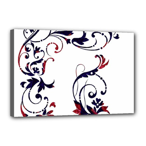 Scroll Border Swirls Abstract Canvas 18  X 12  by Nexatart