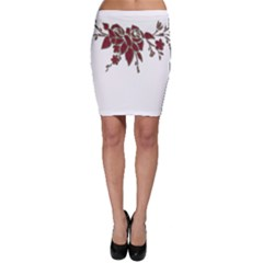 Scrapbook Element Nature Flowers Bodycon Skirt