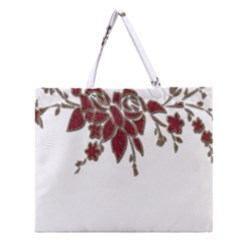 Scrapbook Element Nature Flowers Zipper Large Tote Bag by Nexatart