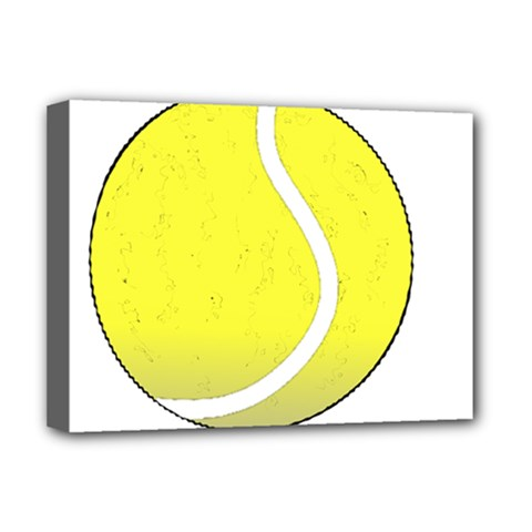 Tennis Ball Ball Sport Fitness Deluxe Canvas 16  X 12   by Nexatart