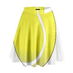 Tennis Ball Ball Sport Fitness High Waist Skirt by Nexatart