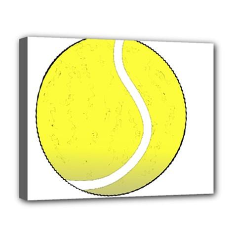 Tennis Ball Ball Sport Fitness Deluxe Canvas 20  X 16   by Nexatart