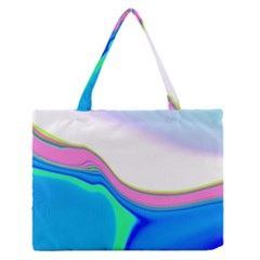 Aurora Color Rainbow Space Blue Sky Purple Yellow Green Medium Zipper Tote Bag by Mariart