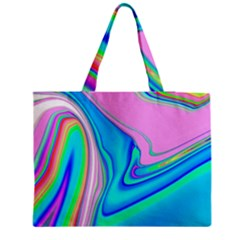Aurora Color Rainbow Space Blue Sky Purple Yellow Green Pink Red Medium Tote Bag by Mariart