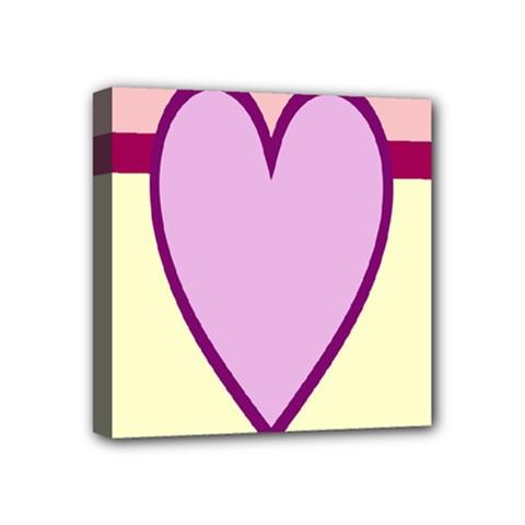 Cute Gender Gendercute Flags Love Heart Line Valentine Mini Canvas 4  X 4  by Mariart