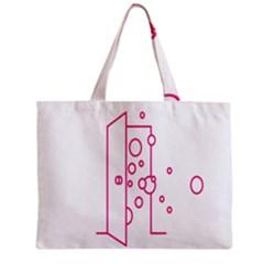 Deep Clean Bubbel Door Pink Polka Circle Zipper Mini Tote Bag by Mariart