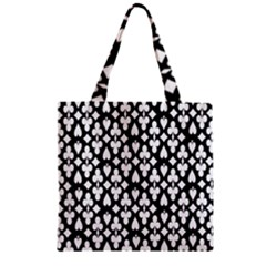 Dark Horse Playing Card Black White Zipper Grocery Tote Bag by Mariart