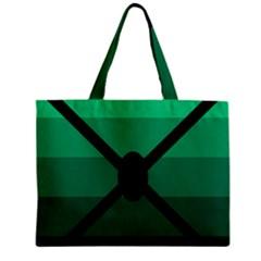 Fascigender Flags Line Green Black Hole Polka Zipper Mini Tote Bag by Mariart