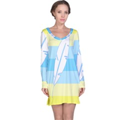 Feather Flags Long Sleeve Nightdress by Mariart