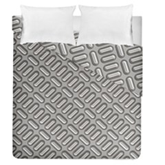 Capsul Another Grey Diamond Metal Texture Duvet Cover Double Side (queen Size) by Mariart