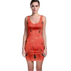 Summer Watermelon Design Sleeveless Bodycon Dress by TastefulDesigns