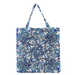 Modern Nouveau Pattern Grocery Tote Bag by dflcprints