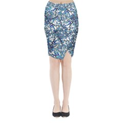 Modern Nouveau Pattern Midi Wrap Pencil Skirt by dflcprintsclothing