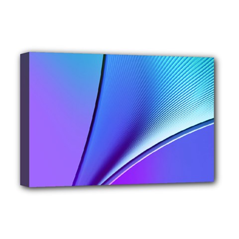 Line Blue Light Space Purple Deluxe Canvas 18  X 12   by Mariart