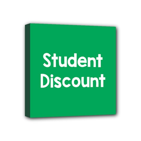 Student Discound Sale Green Mini Canvas 4  X 4  by Mariart