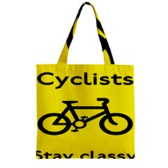 Stay Classy Bike Cyclists Sport Zipper Grocery Tote Bag by Mariart